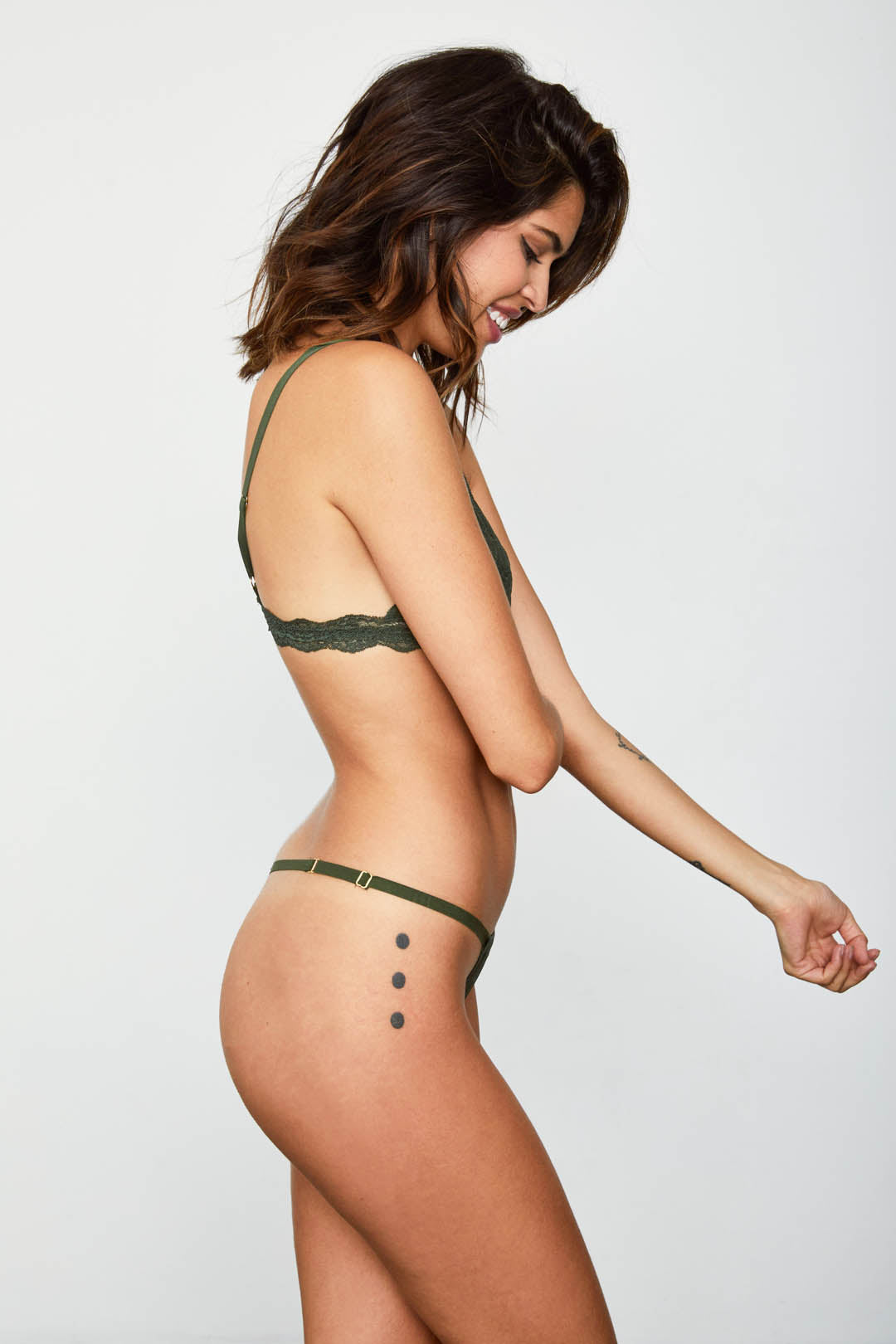 2 A T-STRING PANTY | GRAPHITE GREEN