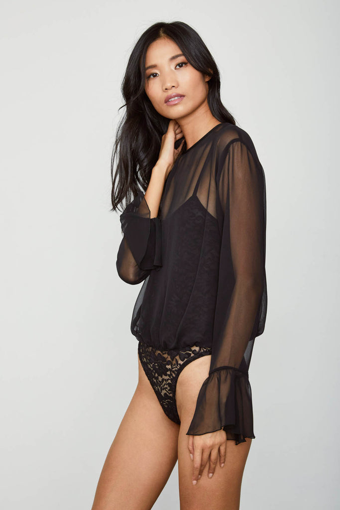 C IT THRU BODYSUIT | NOIR