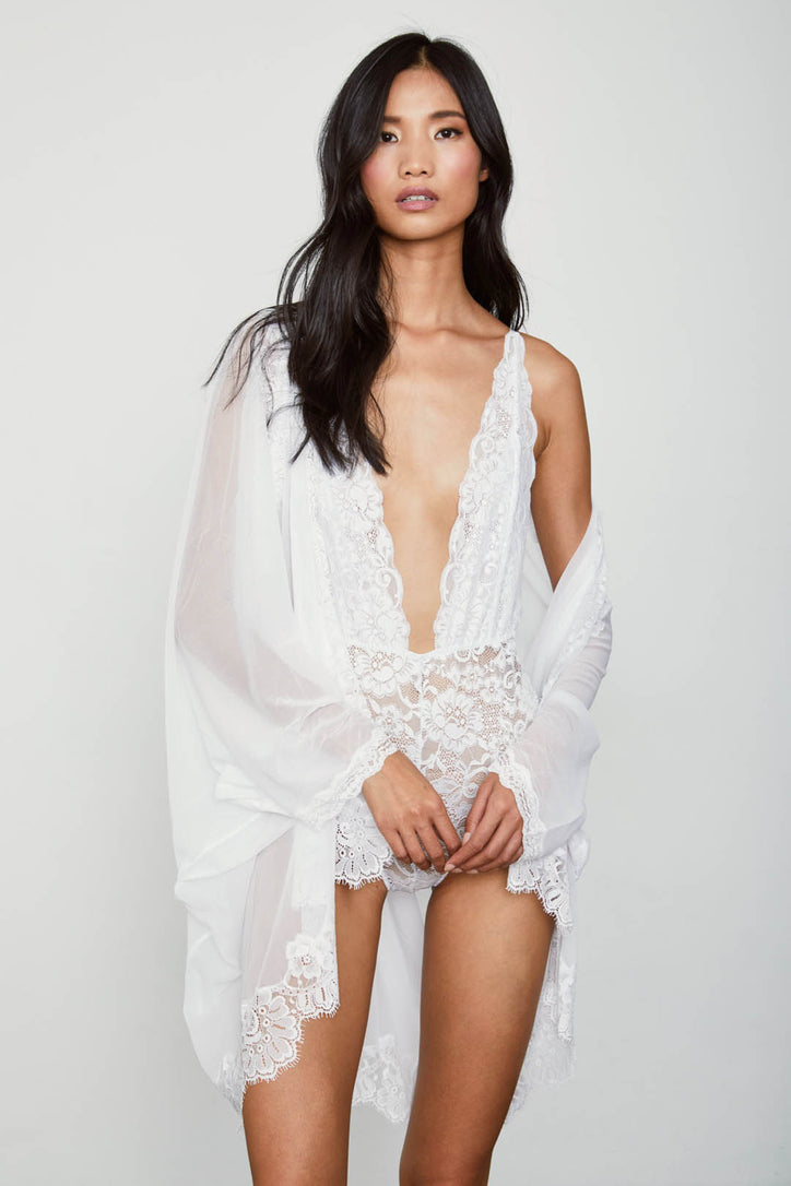 white vintage inspired lace caftan cardigan machine washable