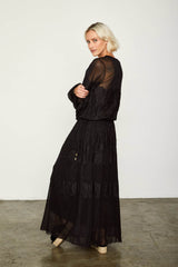 ROYAL HAHNESS DRESS | NOIR