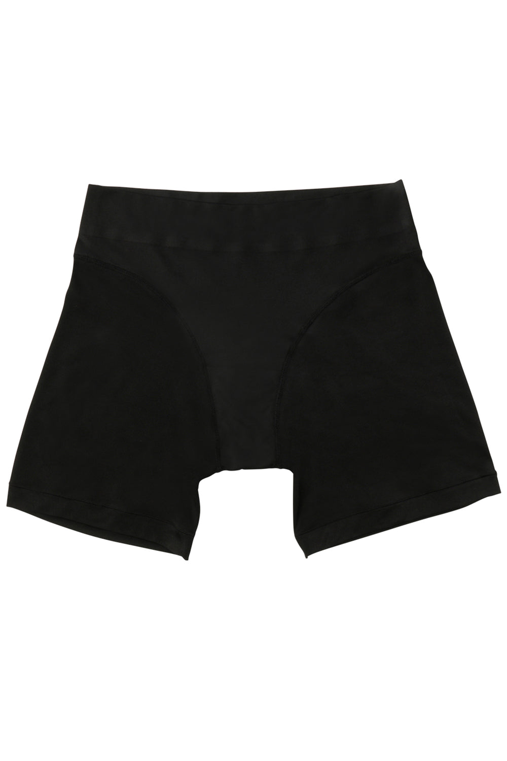 Black high waisted biker short, eco-friendly machine washable