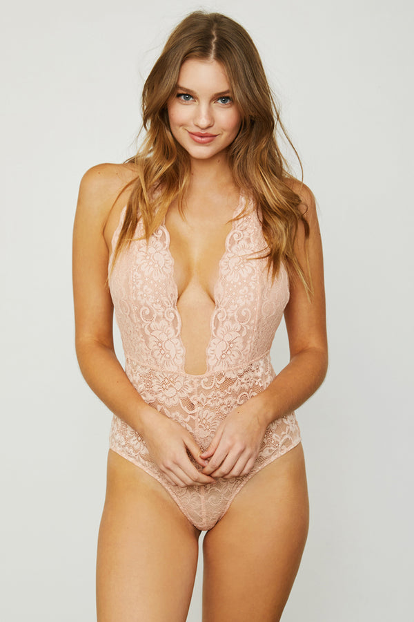 Comin' In HAHt Bodysuit | Copper Rosé