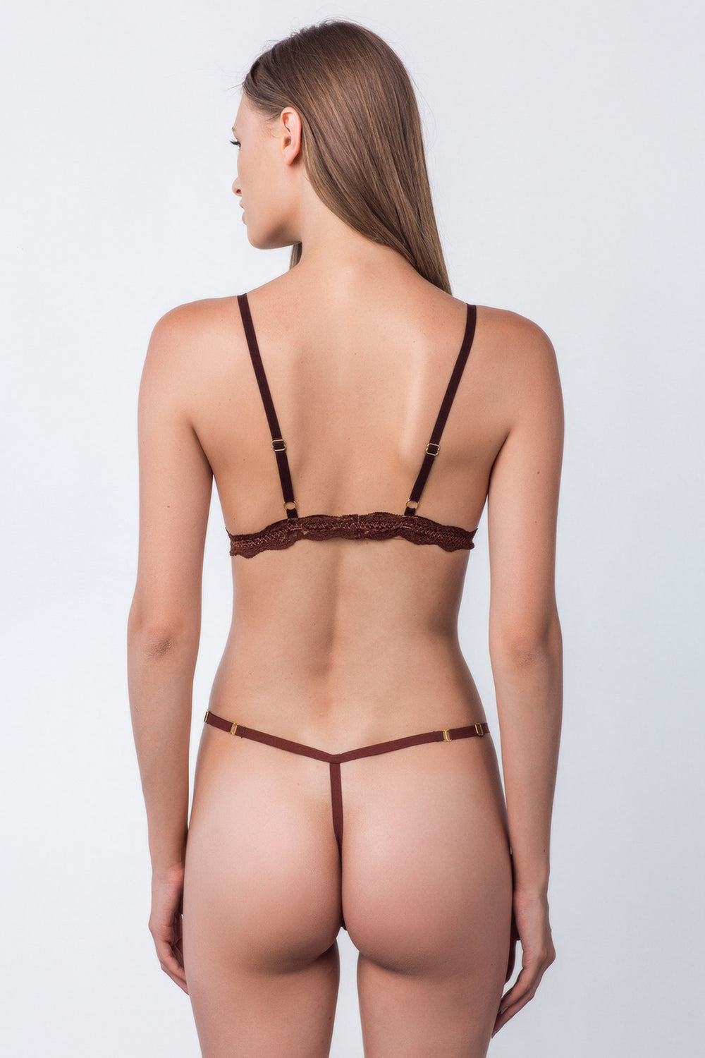 brown mesh thong panty sexy one size machine washable