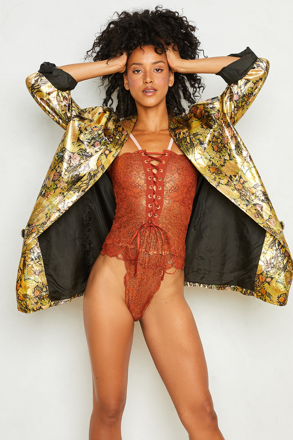 Reversible Spinster Bodysuit | Bronze Foil