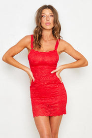 Tight Squeeze Dress | Siren Red