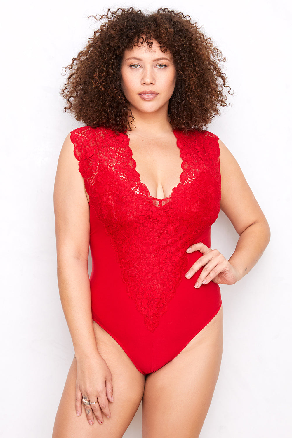 Lady Like Bodysuit | Rouge Red