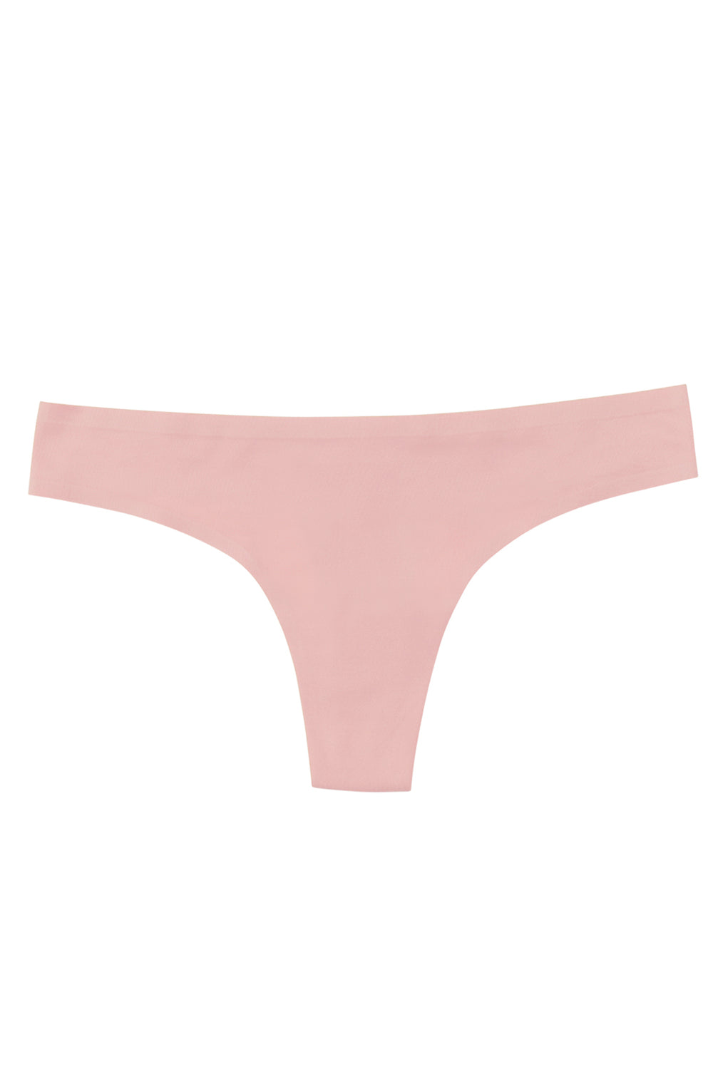 Pink low rise thong panty, eco-friendly machine washable
