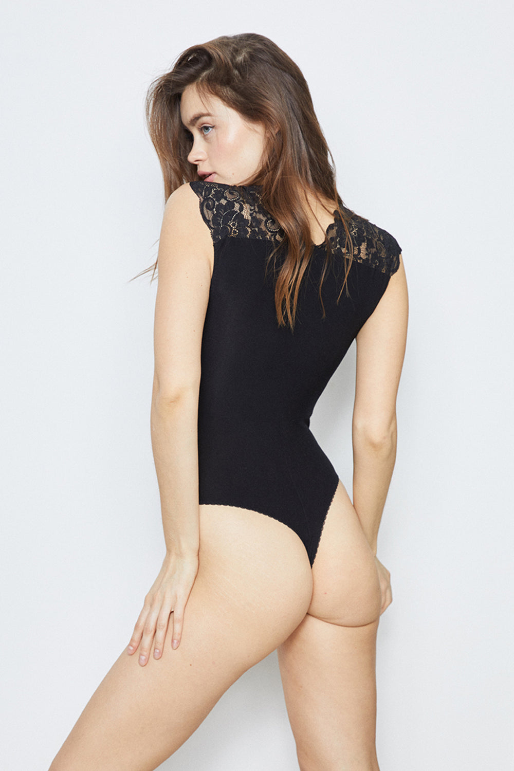 Lady Like Bodysuit | Noir
