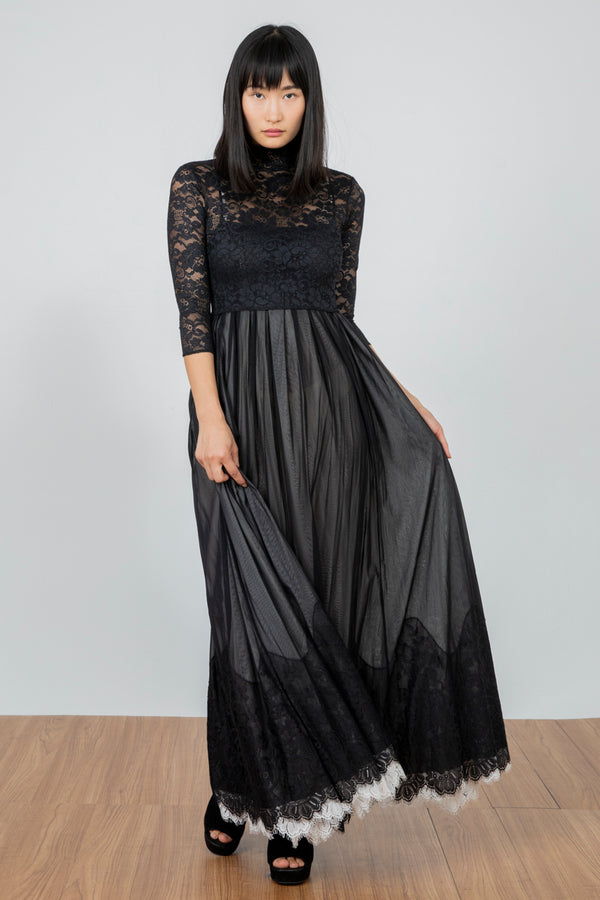 Mad Maxi Dress | Noir