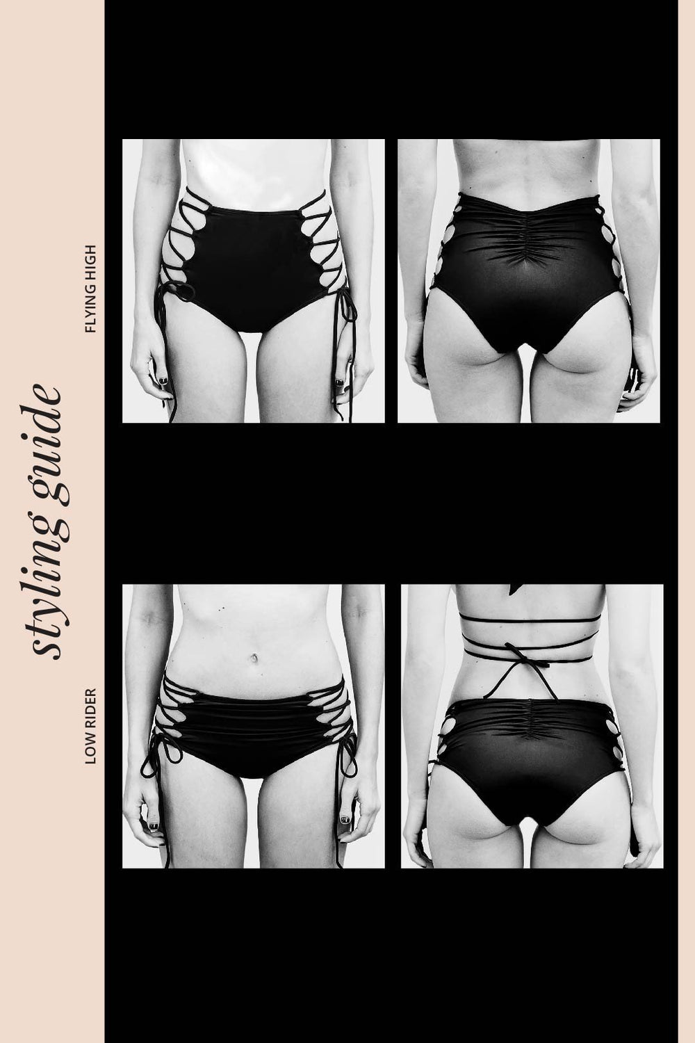 Hi-Kini Bottom | Flock Together Noir