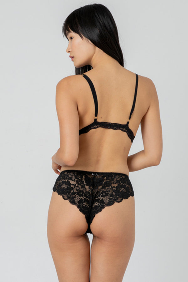 Str8 Laced Panty | Noir