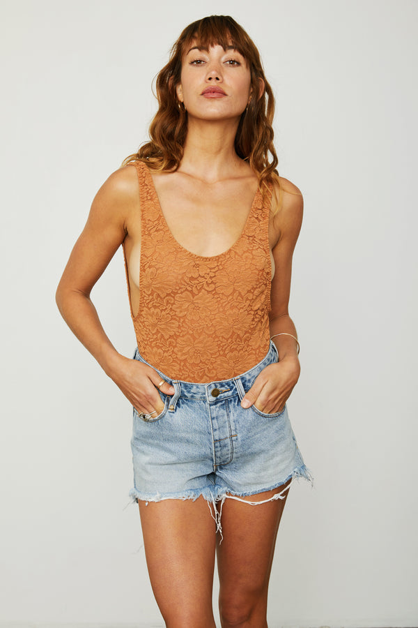 RebeccHAH Bodysuit | Brown Sugar Lace