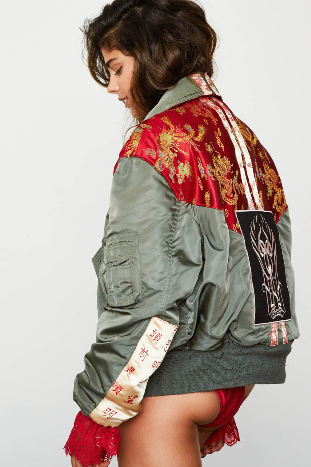 1 Of HAH Kind Jacket - Red Chinois