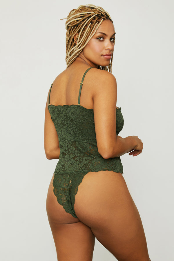 Spinster Reversible Lace Bodysuit | Graphite Green