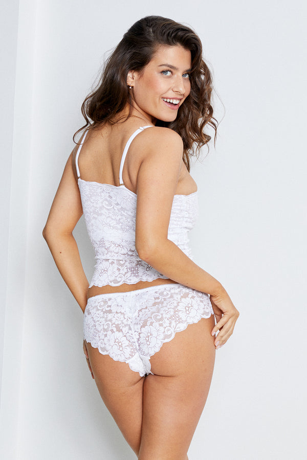 Str8 Laced Panty | Blanc