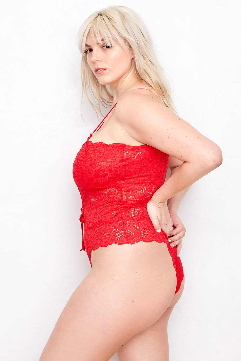 Spinster Reversible Lace Bodysuit | Siren Red