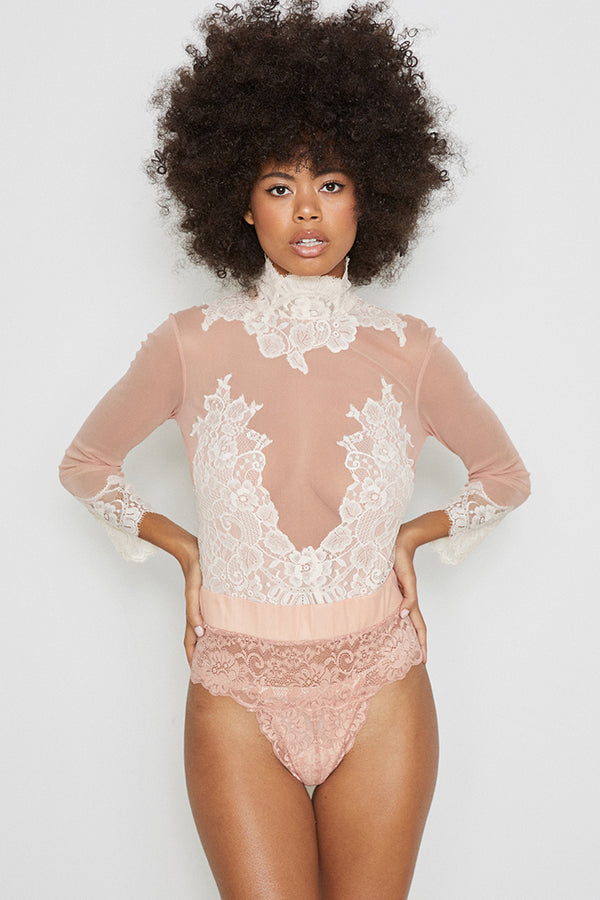 Reversible Take HAH Bow Bodysuit | Copper Rosé