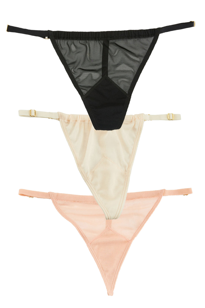 2 A T-String Panty Party Three Pack