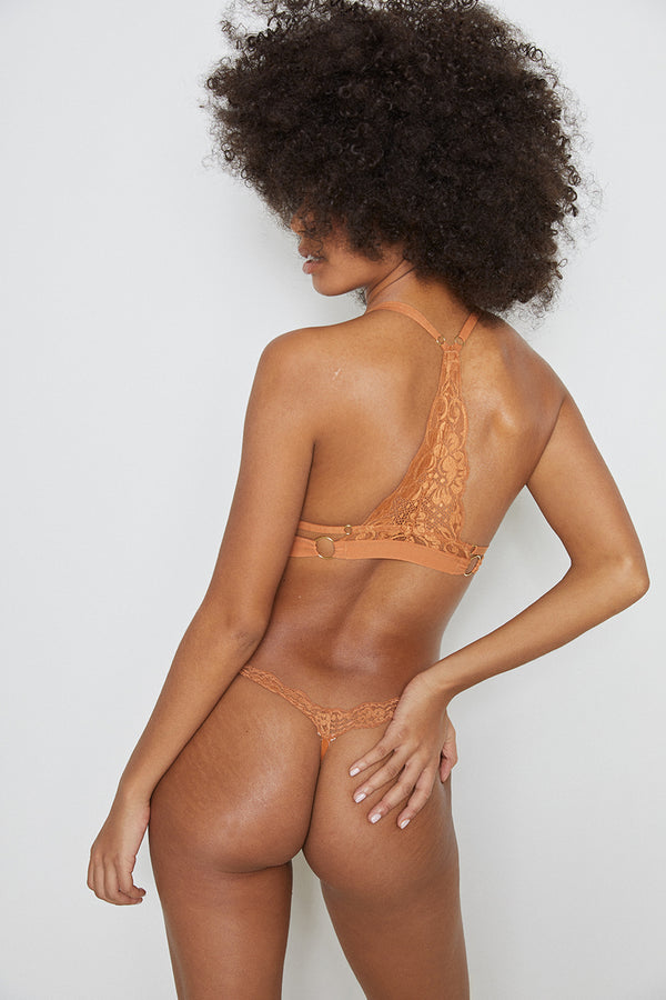 HAH-T-String Me A Thong Panty | Brown Sugar