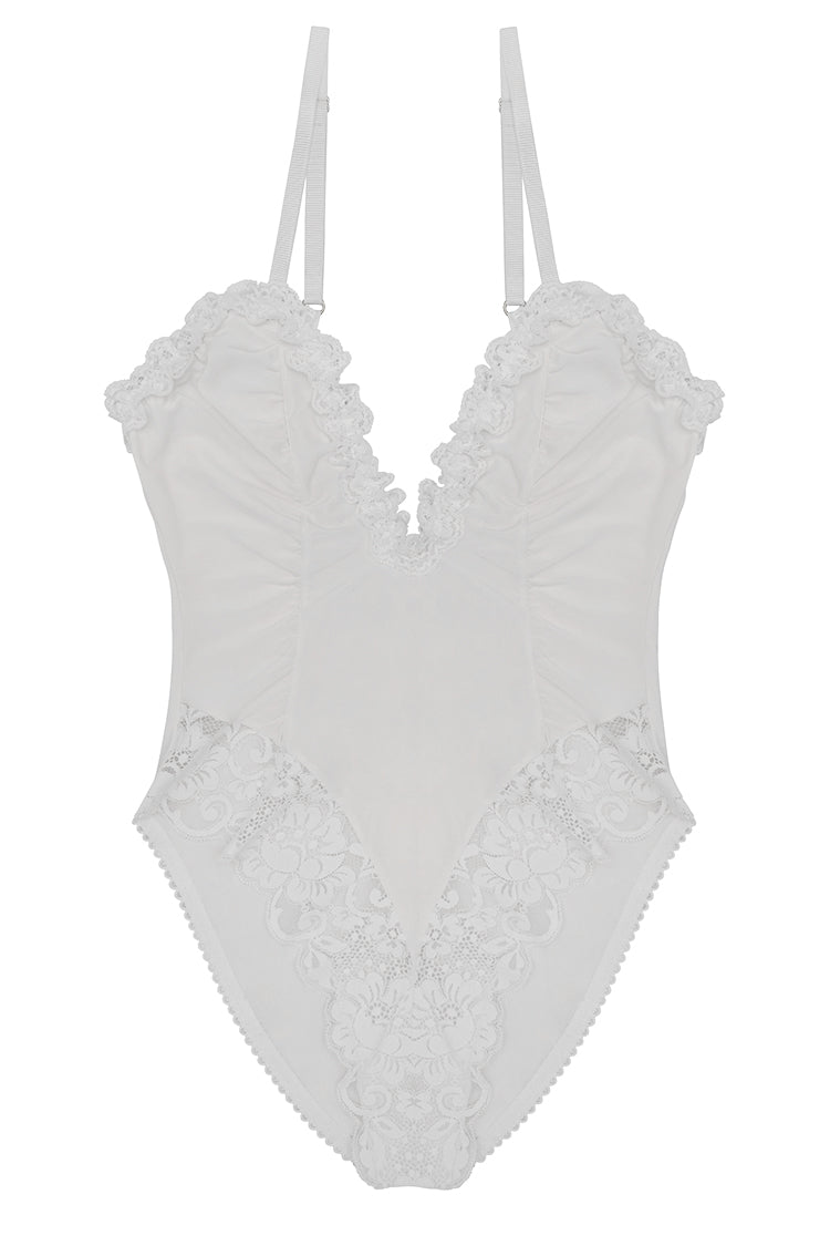 Deeply Yours Bodysuit | Blanc
