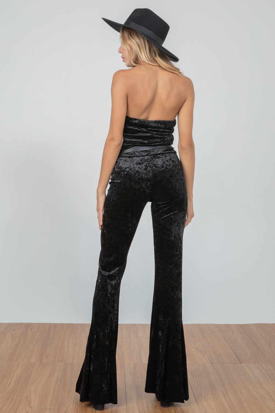 Blow Your Horn Velvet Pant | Noir