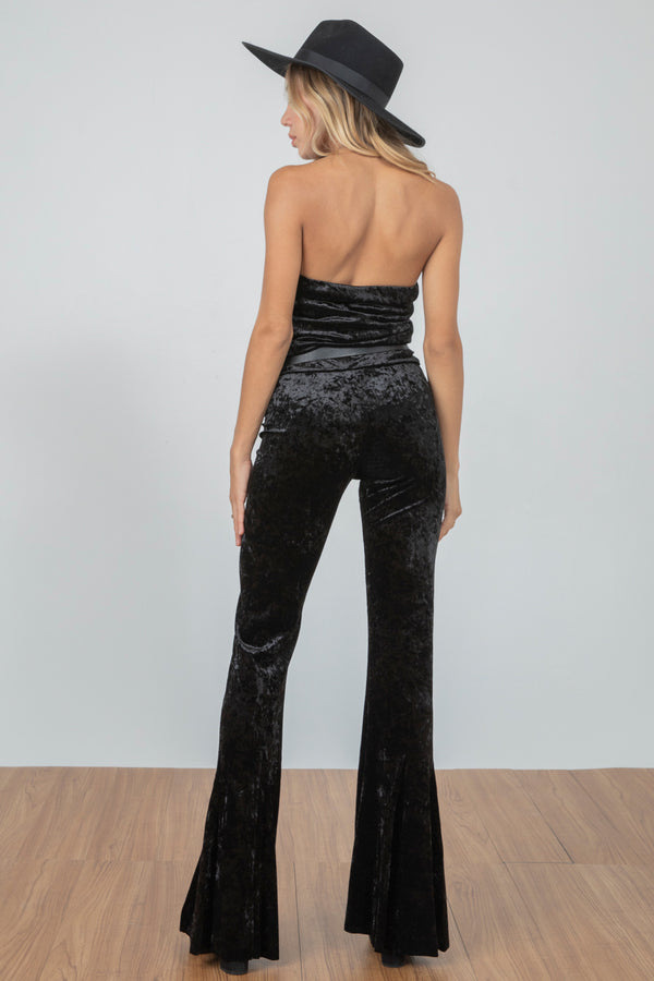Blow Your Horn Pant Velvet | Noir