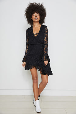 Wrap Star Dress | Noir