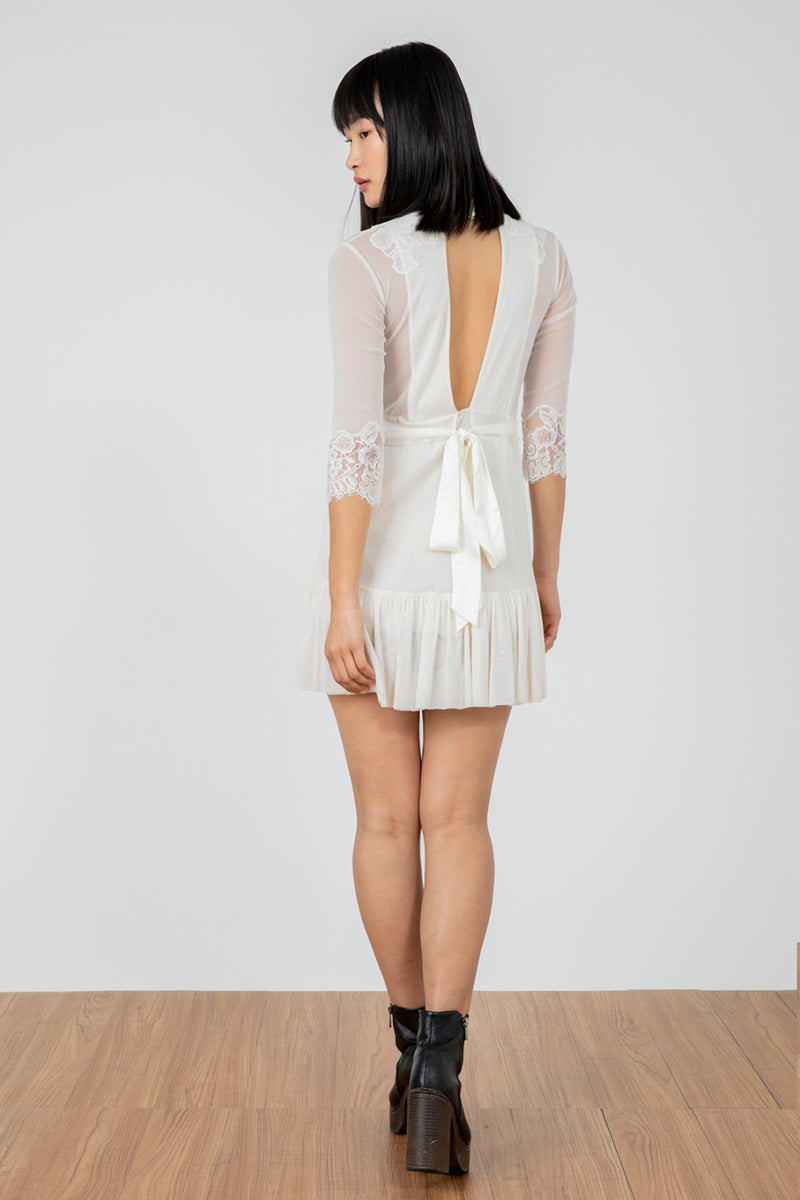 Reversible Bow Down Dress | Eggshell