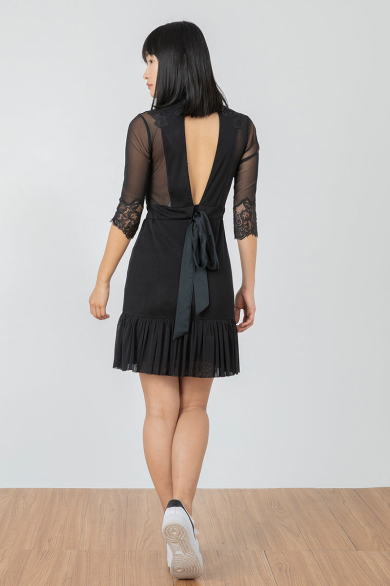 Reversible Bow Down Dress | Noir