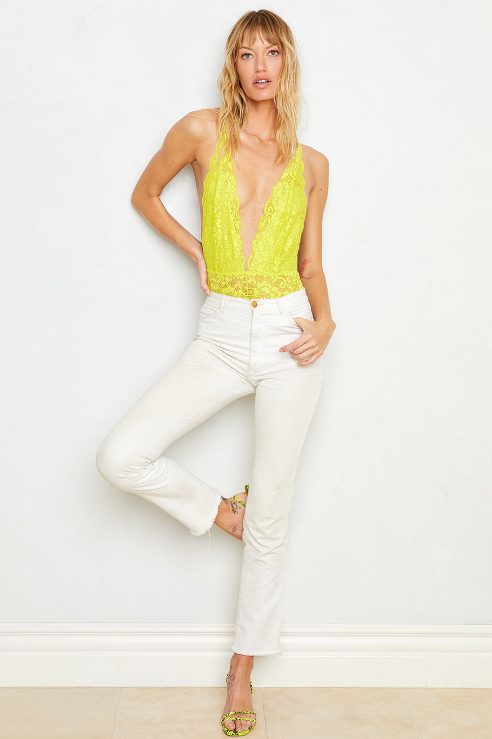 Comin' In HAHt Lace Bodysuit | Lime Lite