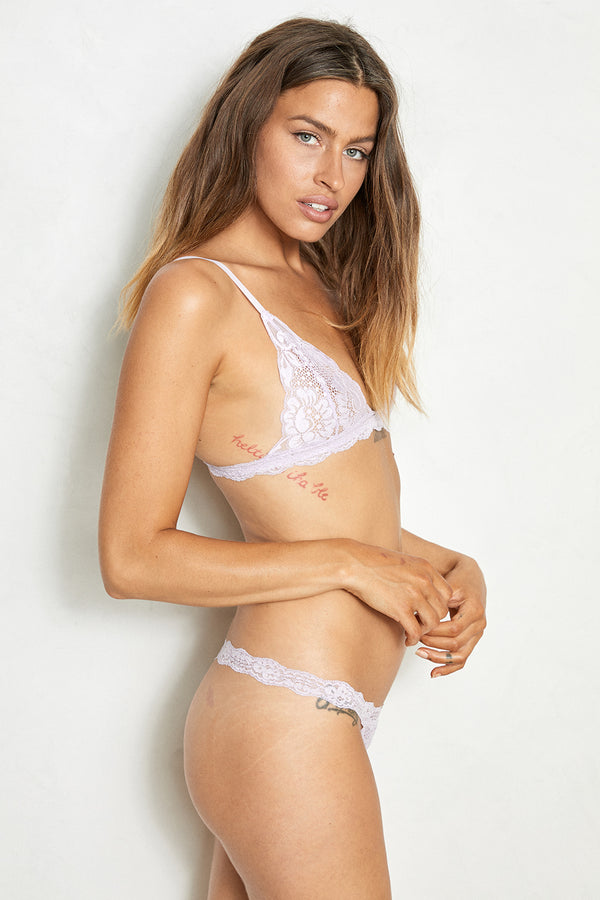 Light lavender lacy bralette.