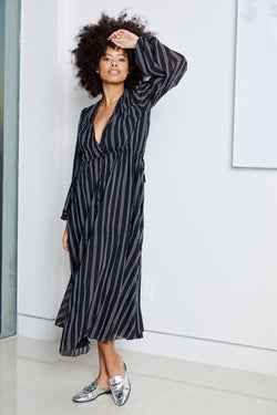 Lovin' LindHAH Dress | Pin Stripe Noir