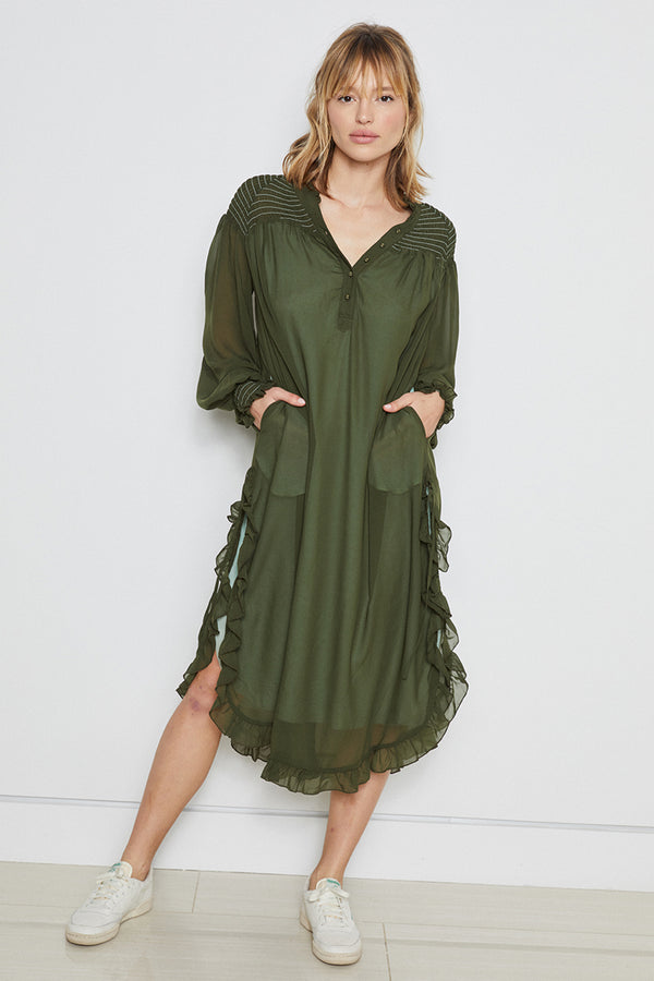 Street Sweeper Dress | Green Tea