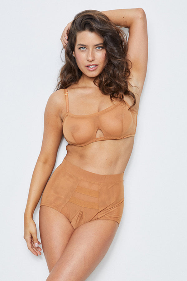 Hi Waisted Panty | Brown Sugar