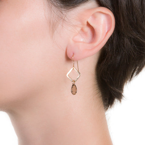 Angle Crystal Earrings