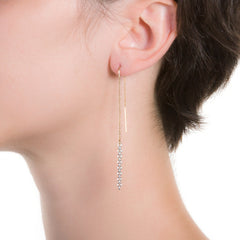 "Cadena Threader Earrings  | 3"" Earrings"