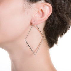 "Korte Large Square Hoop | 2"" Earrings"
