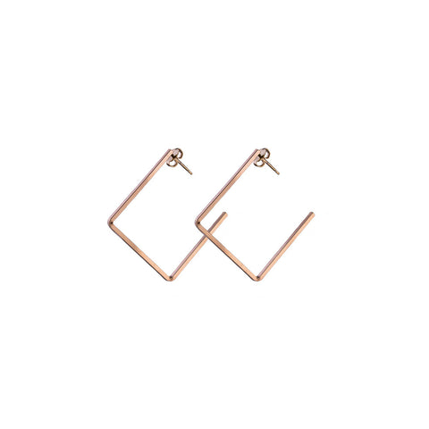 Korte Small Square Hoop | 1