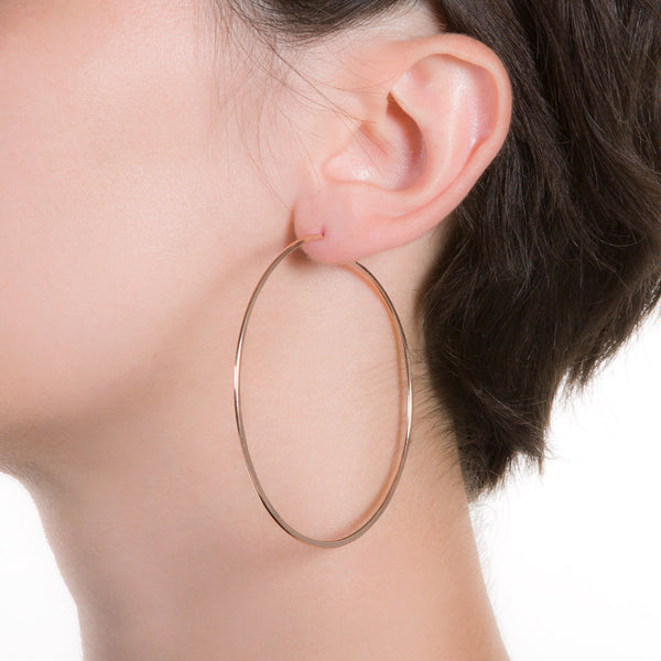 "Litho Eco Hoop Large | 2.5"" Earrings"