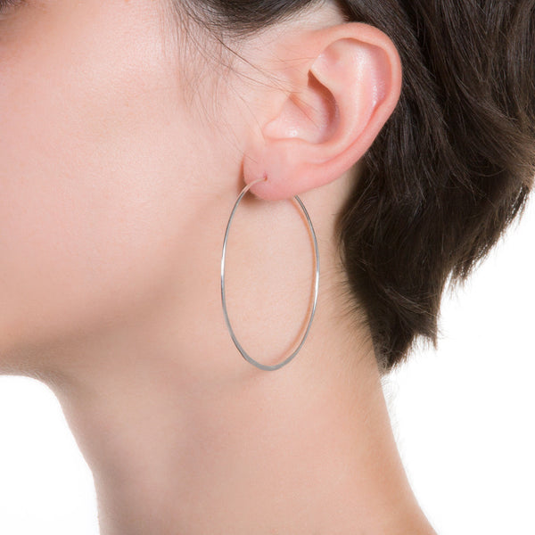 "Litho Eco Hoop Medium | 2"" Earrings"