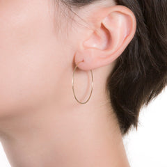 "Litho Eco Hoop Small | 1.25"" Earrings"