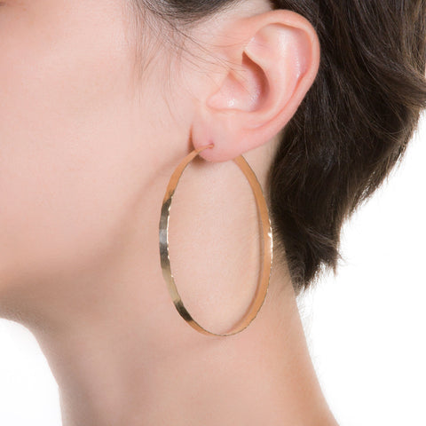 Litho Forged Hoop Large Earrings