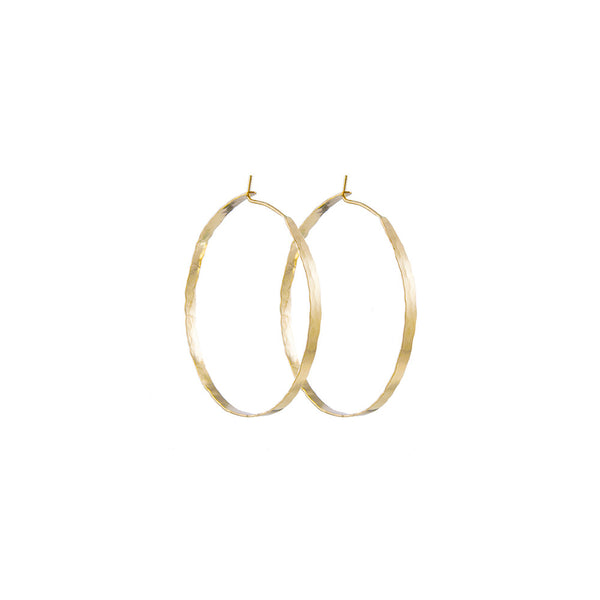 "Litho Forged Hoop Large Earrings  | 2.5"" Earrings"
