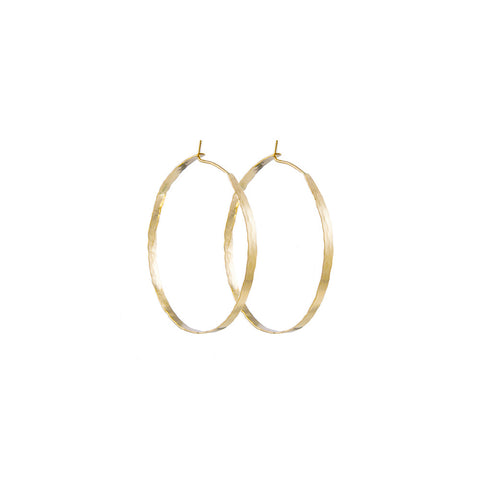 Litho Forged Hoop Large Earrings  | 2.5