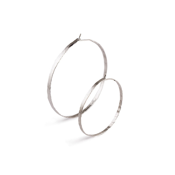 "Litho Forged Hoop Small Earrings | 1.75"" Earrings"