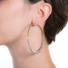 "Litho Luna Hoop Large | 3"" Earrings"
