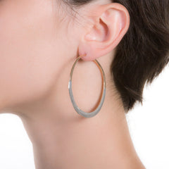 "Litho Luna Hoop Medium | 2.25"" Earrings"