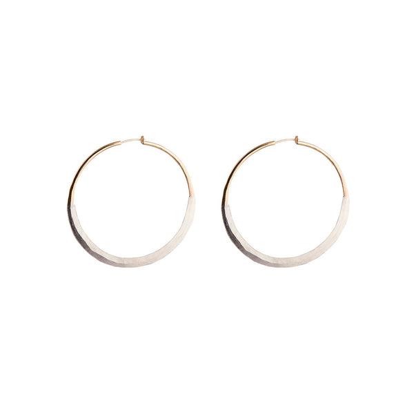 "Litho Luna Hoop Medium | 2"" Earrings"