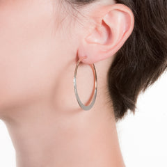 "Litho Luna Hoop Small | 1.5"" Earrings"