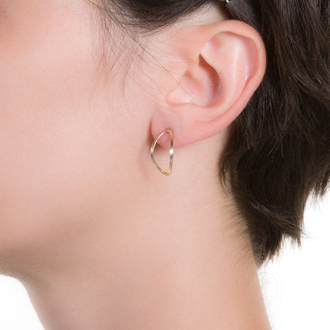 Lotus Stud Earrings | 0.75